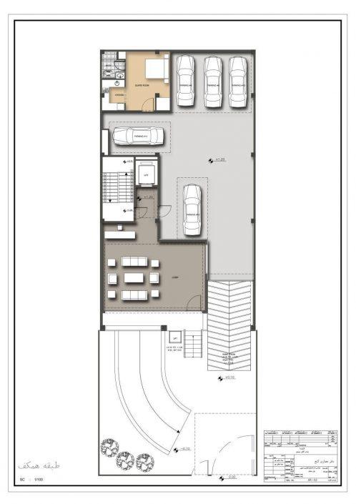 طبقه همکف نمونه ساختمان دستور