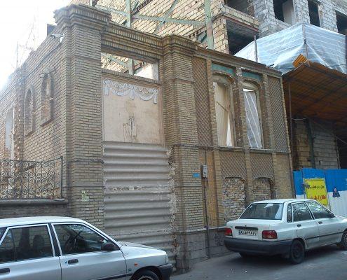 خانه آجری تهران خیابان سلیمان پور