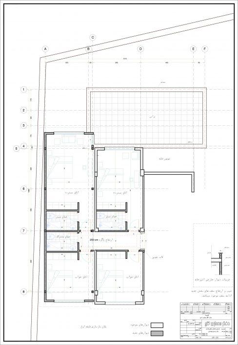 پلان بازسازی طبقه اول